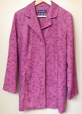 """Casual & Co Qvc Size M 40"""" Bust Pink Cord Floral Jacket"""