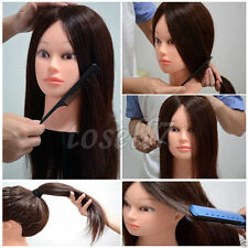 """100% Human Hair 24"""" Salon Hairdressing Practice Training Head Mannequin USA BY"""