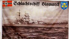 Fahne Flagge Militaria Schlachtschiff Bismarck Marine Schiff Deutschland  # 372