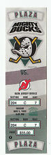DUCKS VS DEVILS 1995 FULL TICKET STUB MINT 11/5/95 PAUL KARIYA GOAL AND 2 ASSIST
