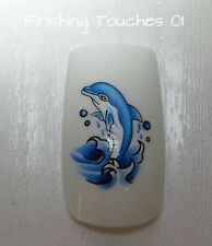 NAIL ART ACQUA trasferimento-DELFINO Decalcomania # 354 C012 Adesivo Wrap Lucente BLUE SEA