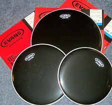 Evans BLACK Hydraulic Drum Head Pack-12-13-16