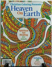Christian Coloring Presents Heaven On Earth Adult Coloring Book FREE SHIPPING sb