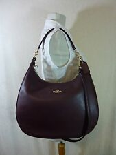 NWT Coach Oxblood Pebbled Leather Large Harley Hobo Bag $425 - 38259