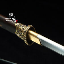 Handmade Dragon Fittings Chinese Dao Tang Dao Straight Blade Kiriha Zukuri Sword