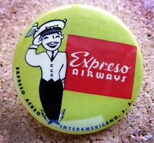 1950 Cuba Expreso Airways Design Button Pin Back Modernist Mid-Century Deco #11
