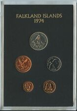 GN647 Falkland Islands Original Kursmünzensatz KMS 1974 Original PROOF COIN SET
