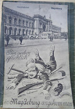 original  AK Magdeburg Hauptbahnhof Militärdienst