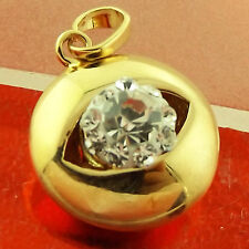 FSA299 GENUINE REAL 18CT YELLOW G/F GOLD DIAMOND SIMULATED EVIL EYE PENDANT
