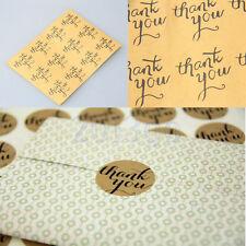 60 Merci autocollant étiquette Bijoux Cadeau Box Décor Cookie Emballage Sac HG