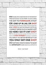 Eminem - Lose Yourself - Song Lyric Art Poster - A4 Size