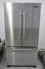 """Viking VCFF236SS 21.8 cuft 36"""" Stainless Counter-Depth French Door Refrigerator"""