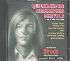 Quicksilver Messenger Service - Live San Jose 1966 Italy Press Cd Perfetto