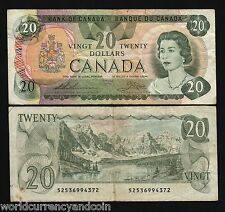 CANADA $20 P93C 1979 QUEEN LAKE MOUNTAIN VF BANK NOTE