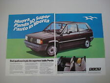 advertising Pubblicità 1983 FIAT PANDA 30 SUPER