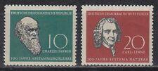 DDR East Germany 1958 ** Mi.631/32 Darwin Linné Forscher Scientists