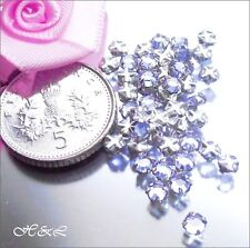 30 Swarovski ss10 Alexandrite Vintage Rose Montee Sew On Crystal 10ss Pack Lilac