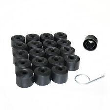 NERO TAPPO 17mm Cerchio Plastica Dadi Bulloni per AUDI A4 A6 A8 20 pezzi