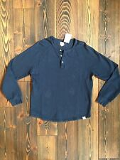 NEW NWT LUCKY BRAND Men's Dk Blue/Navy Cotton LS Thermal Henley Shirt (S) $54.50