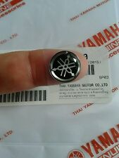 YAMAHA LOGO100% GENUINE 12 mm TUNING FORK LOGO BLACK SLVER STICKER EMBLEM DECAL