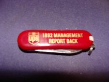 United Parcel Service UPS Multi Tool, Knife 1992 Management Report Back AI