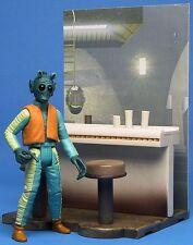 Star Wars Saga Ultra Raro Suelto USA WALMART EXCLUSIVE Greedo Con Cantina Bar.