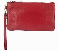 Chic Tech Pebbled Leather Wristlet w 4000 mAh Cell Phone Charger RED QVC