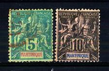 """MARTINIQUE - MARTINICA - 1892 - Allegoria coloniale: Nome dello Stato """"MARTINIQU"""