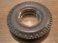 Original Firestone Transport 110 Tire Ash Tray Advertising Clear Glass