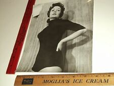 Rare Original VTG Period Gorgeous Brunette Girl in Cheese Cake Pinup Pose Photo
