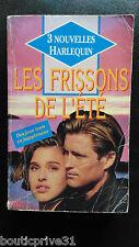 Livre- 3 nouvelles Harlequin  de 1992 - Les Frissons de l'été