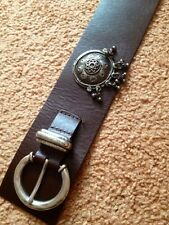 Max Mara Weekend wide dark brown leather belt size s. Made In Italy