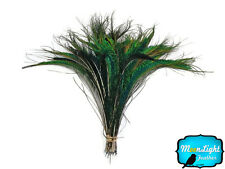 50 Pieces - Natural Peacock Swords Cut Wholesale Feathers (bulk)