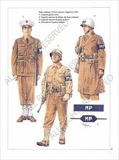 PLANCHE UNIFORM PRINT WWII US Army United States Army Air Forces USAAF 1944