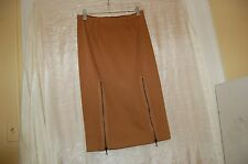 Valentino Fashion Group Brown Wool/Cotton/Elastane Skirt Size US 6 Made in Italy
