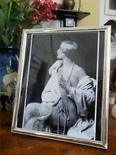 ART DECO VINTAGE POSE NAKED BLONDE LADY SILVER PLATED GLASS PICTURE PHOTO FRAME