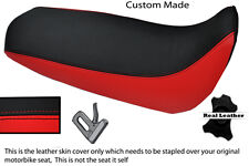 BLACK & RED CUSTOM FITS YAMAHA XT 125 R X 05-12 REAL LEATHER SEAT COVER