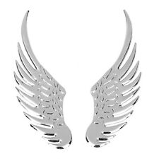 Pair Cool 3D Wings Car Auto Motorcycle Logo Emblem Badge Decal Metal Sticker