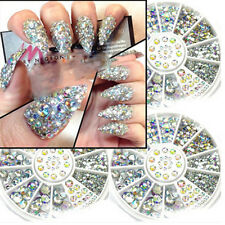 5 Sizes 400Pcs DIY Nail Art Tips Gems Crystal Glitter Rhinestone 3D Decoration
