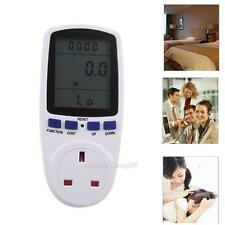UK Plug Energy Meter Watt Voltage Volt Electricity Monitor Analyzer Power Factor