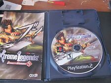 Playstation 2 Dynasty Warriors 5: Xtreme Legends case & book COMPLETE TESTED