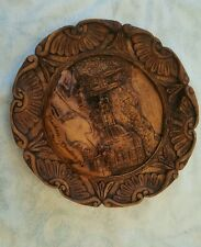 Vintage Baden Baden, Germany Hand Carved 3D Wood Resin Collectible Plate