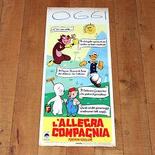 L'ALLEGRA COMPAGNIA locandina poster Animazione Braccio di Ferro Gasperino O29