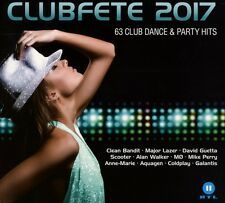 Club Festa 2017 - 63 CLUB DANCE & Party Hits 3 CD NUOVO Axwell/Coldplay/scooter/+
