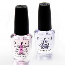 ORIGINAL OPI Twin Pack TOP + BASE COAT Natural Nail Polish 15ml Lacquer Varnish