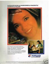 Publicité Advertising 1989 Compagnie aerienne Malaysia Airlines