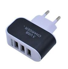 EU Plug 3.1A Triple USB Port Wall Home Travel AC Charger Adapter For Samsung UK