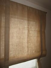 "Burlap valance with roman ties on each side Roman Shade Burlap Curtain 70"" long"