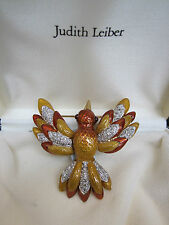 Judith Leiber Bird Brooch Enamel and pavé crystals