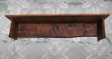 Aged Oak Barn Wood Rustic Country Primitive Wooden Wall Shelf Home Decor